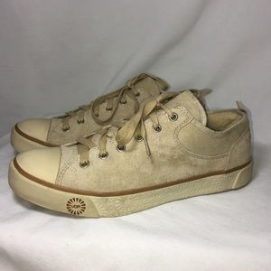 "UGG Suede leather sneakers ""Evera"" sand sz 8"